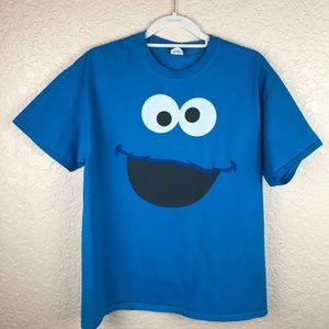 Tops - Cookie Monster T Shirt Blue